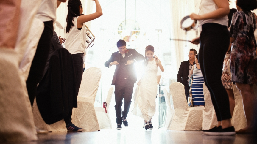 Film Wedding Photography by Brian Ho / thegaleria. Chijmes
