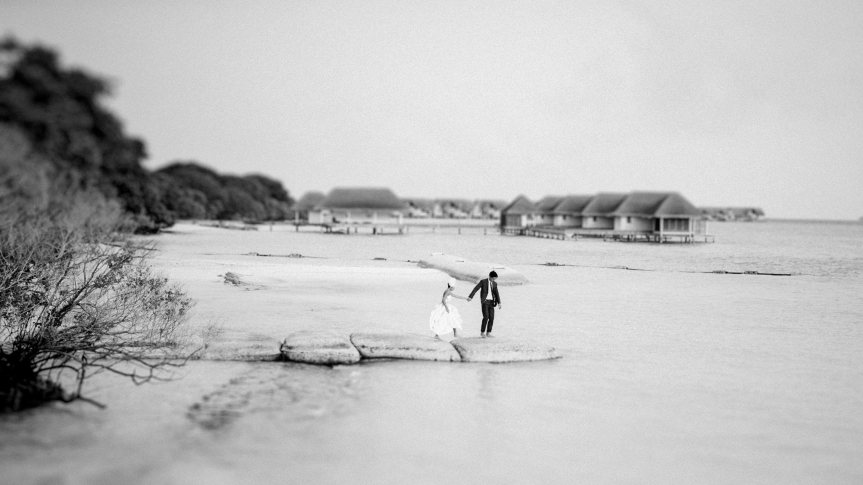Maldives Pre-Wedding & Destination Weddings by Film Photographer Brian Ho. Featured at Honey Brides